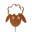 Metal plug sheep head